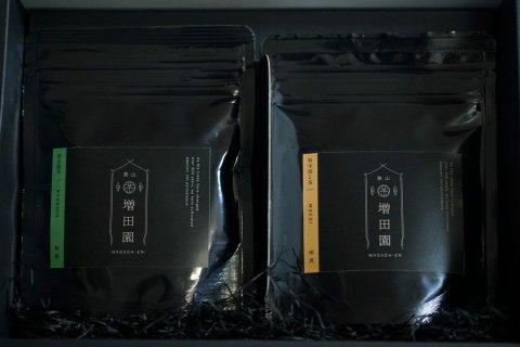 粉末緑茶と粉末焙じ茶セット