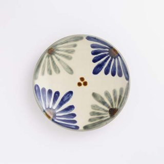 やちむん 育陶園 5寸皿(菊紋)