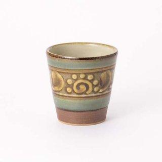 やちむん 高江洲陶器所 フリーカップ(緑釉イッチン)