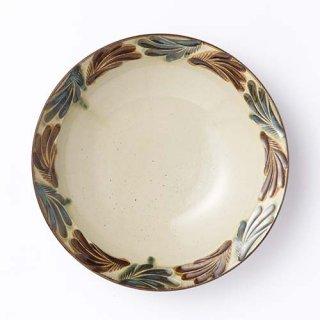やちむん やちむん工房結 7寸皿(クバ紋)