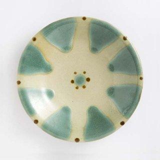 やちむん ノモ陶器製作所 7寸皿(緑釉)