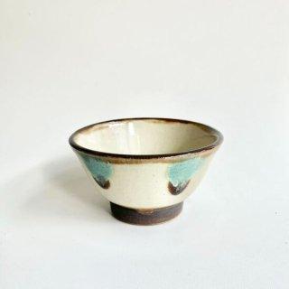 やちむん ノモ陶器製作所 4寸マカイ(白地・緑釉)