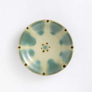 やちむん ノモ陶器製作所 5寸皿(緑釉)
