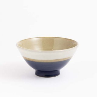 serumama やちむん KIBIJIROシリーズ きび白お椀M ブルー