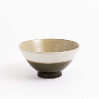 やちむん Serumama KIBIJIROシリーズ きび白 お椀(Mサイズ) モス・グリーン