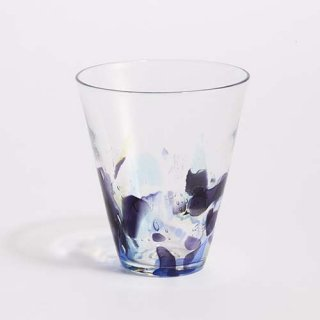 琉球ガラス GlassArt青い風 アクアリーフ広口グラス大