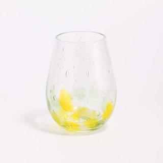 琉球ガラス GlassArt青い風 しまいろ細タルグラス(黄緑)