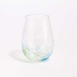 琉球ガラス GlassArt青い風 しまいろ細タルグラス(水緑)