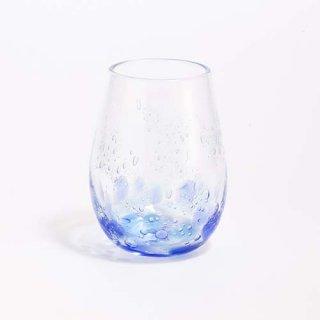 琉球ガラス GlassArt青い風 しまいろ細タルグラス(青水)