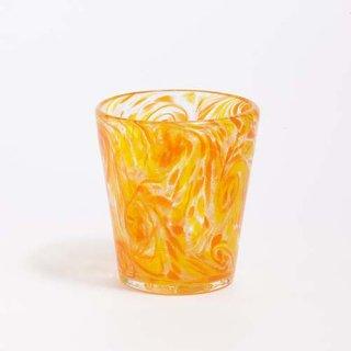 琉球ガラス 匠工房 うずグラス(マンゴー)