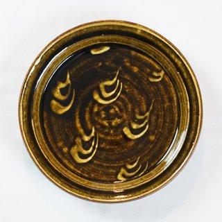 常滑焼 リチャード&ミエコポタリー 7寸皿(飴釉)