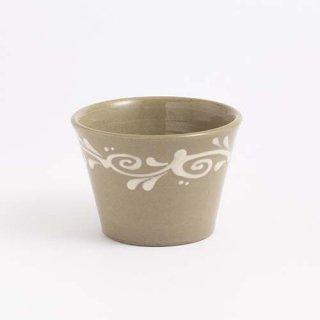 やちむん 育陶園 フリーカップ小 (白イッチン)