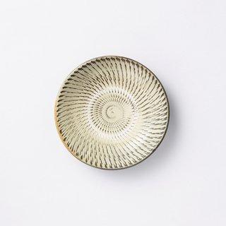 小鹿田焼 5寸皿(飛び鉋)