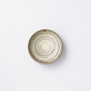 小鹿田焼 4寸皿(飛び鉋)