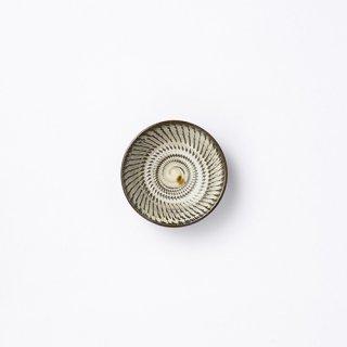 小鹿田焼 豆皿(飛び鉋)