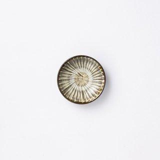 小鹿田焼 豆皿(刷毛目)