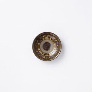 小鹿田焼 豆皿(縁ポン描き)