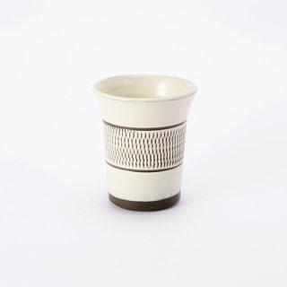 小鹿田焼 フリーカップ(飛び鉋)