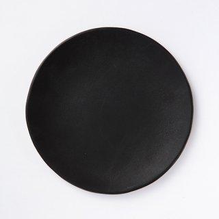 丹波焼  大雅工房  丸プレート(黒)