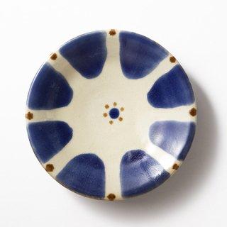 やちむん ノモ陶器製作所 7寸皿(コバルト チチチャン)