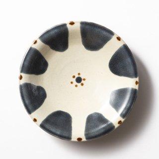 やちむん ノモ陶器製作所 皿7寸(呉須 チチチャン)