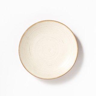 丹波焼 大雅工房 まる皿19センチ(ベージュ)