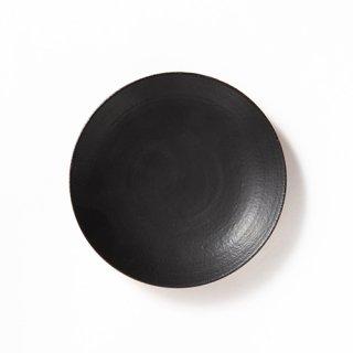 丹波焼 大雅工房 まる皿19センチ(黒)