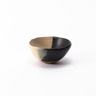 丹波焼 大雅工房 豆小鉢(黒×白)