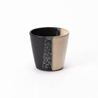 丹波焼 大雅工房 フリーカップ(タテ3色黒)