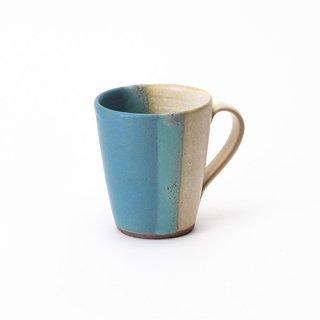丹波焼 大雅工房 マグカップ(青×白)