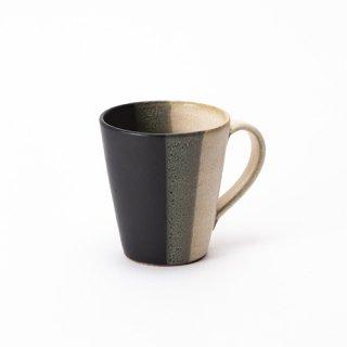 丹波焼 大雅工房 マグカップ(黒×白)