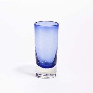 琉球ガラス ガラス工房清天 一口ビアグラス ブルー