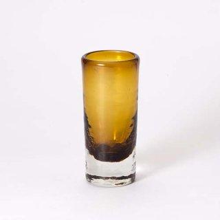 琉球ガラス ガラス工房清天 一口ビアグラス ブラウン