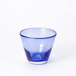 琉球ガラス ガラス工房清天 コーングラス小 ブルー