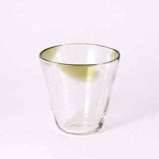 琉球ガラス 吹きガラス工房 彩砂 三つ玉グラス(オリーブ)