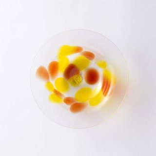 琉球ガラス GlassArt青い風 島じかん デザート皿 アセロラ