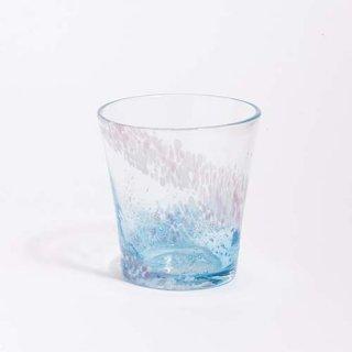 琉球ガラス GlassArt青い風 花筏 グラス 水色