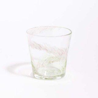 琉球ガラス GlassArt青い風 花筏 グラス 緑