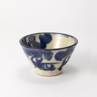 やちむん ノモ陶器製作所 4寸マカイ(巻唐草)