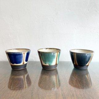 やちむん ノモ陶器製作所 そばちょこ(コバルトストライプ)