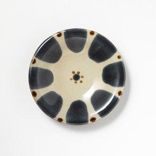 やちむん ノモ陶器製作所 5寸皿(呉須 チチチャン)