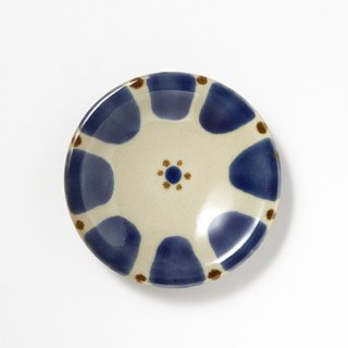 やちむん ノモ陶器製作所 5寸皿(コバルト チチチャン)