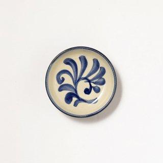 やちむん 陶眞窯 3寸皿(コバルト唐草)