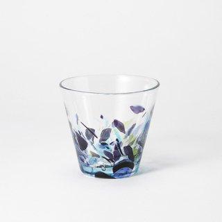 琉球ガラス GlassArt青い風 アクアリーフ広口グラス 小