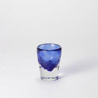 琉球ガラス ガラス工房清天 みなもショット(青)