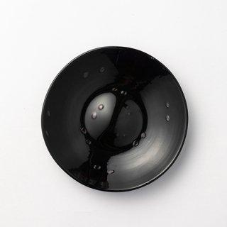 琉球ガラス glass32 雨粒プレート小 黒