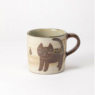 やちむん 工房o-gusuya ハチワレネコマグカップ 大 01