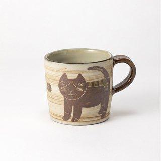 やちむん 工房o-gusuya ハチワレネコマグカップ 大 02