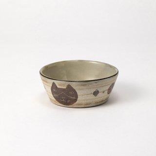 やちむん 工房o-gusuya ハチワレネコ小鉢 01