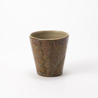 やちむん 工房o-gusuya サンニンアメ釉フリーカップ